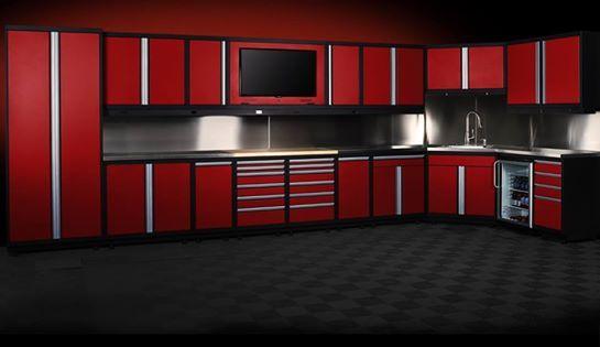 red vinyl on kitchen cupboards