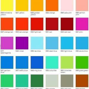 Oracal transparent vinyl colour choices