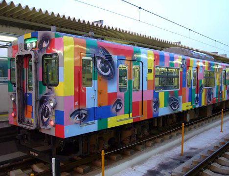 vinyl film on train