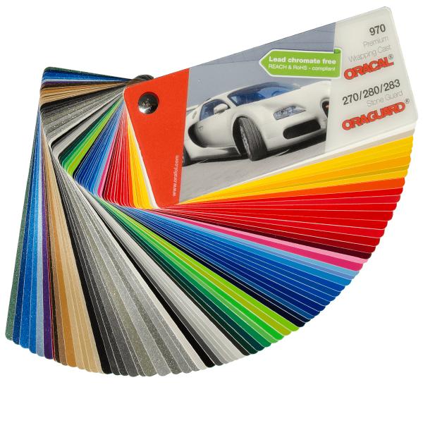 Oracal premium wrapping cast colour wheel