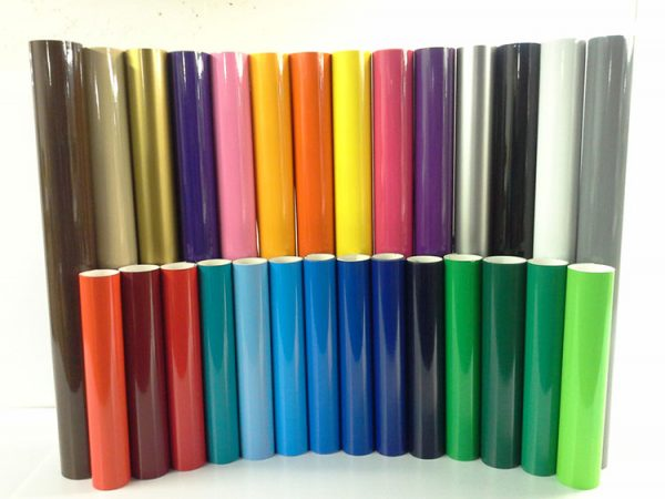 Coloured vinyl rolls