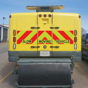 Moving vehicle reflective vinyl stickers