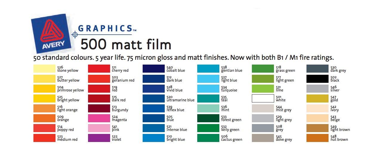 image regarding Printable Window Decal Paper Avery named Avery 500 Matt Vinyl