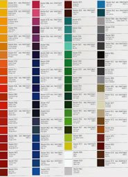 avery 900 supercast colour chart