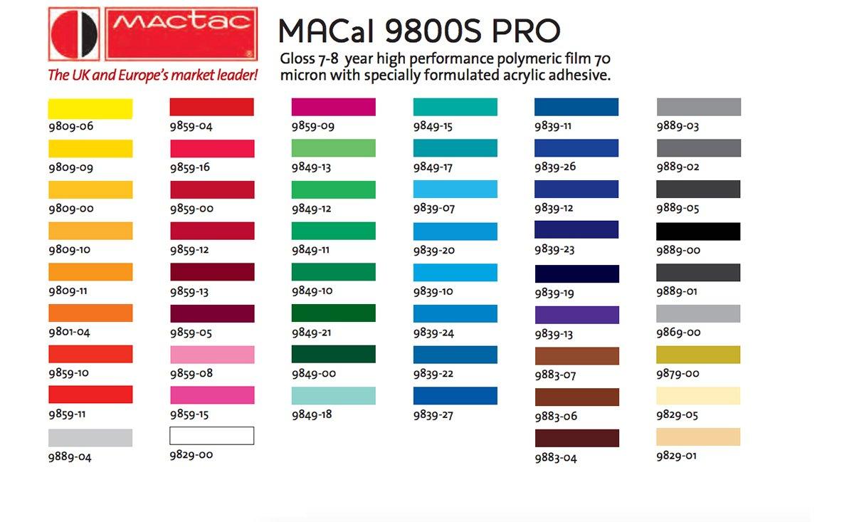 Mactac Macal 9800s Pro Premium Vinyl Self Adhesive Vinyl